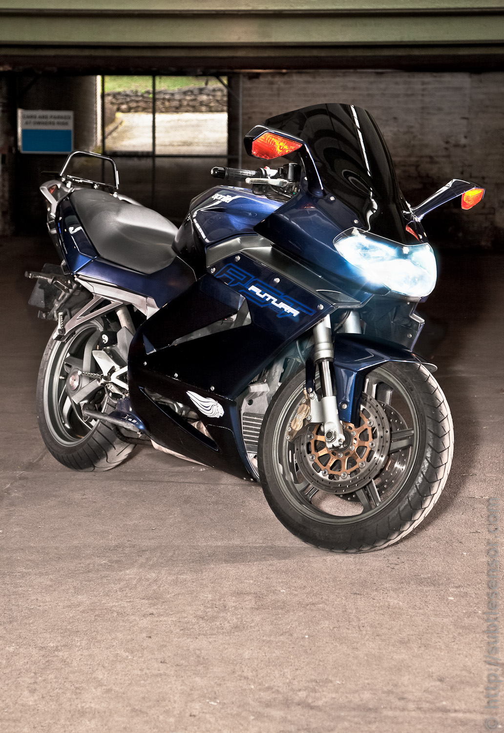 The Fut, The Ape, the 1000cc Sports Tourer - in blue
