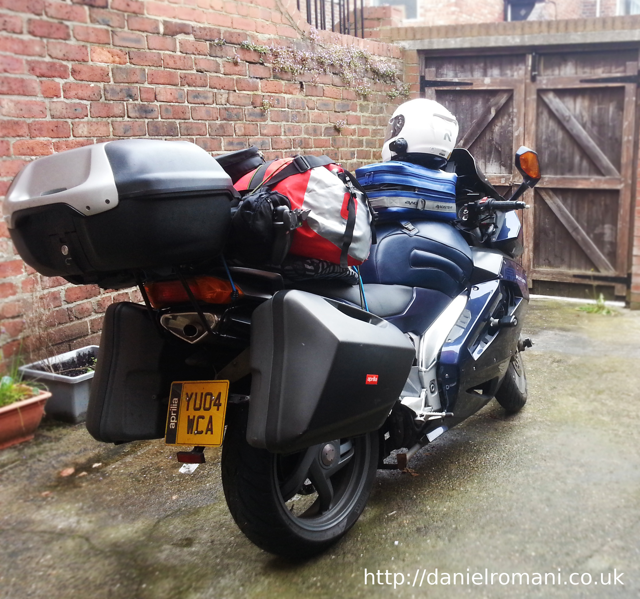 Ready for the UK road Trip - Aprilia Futura