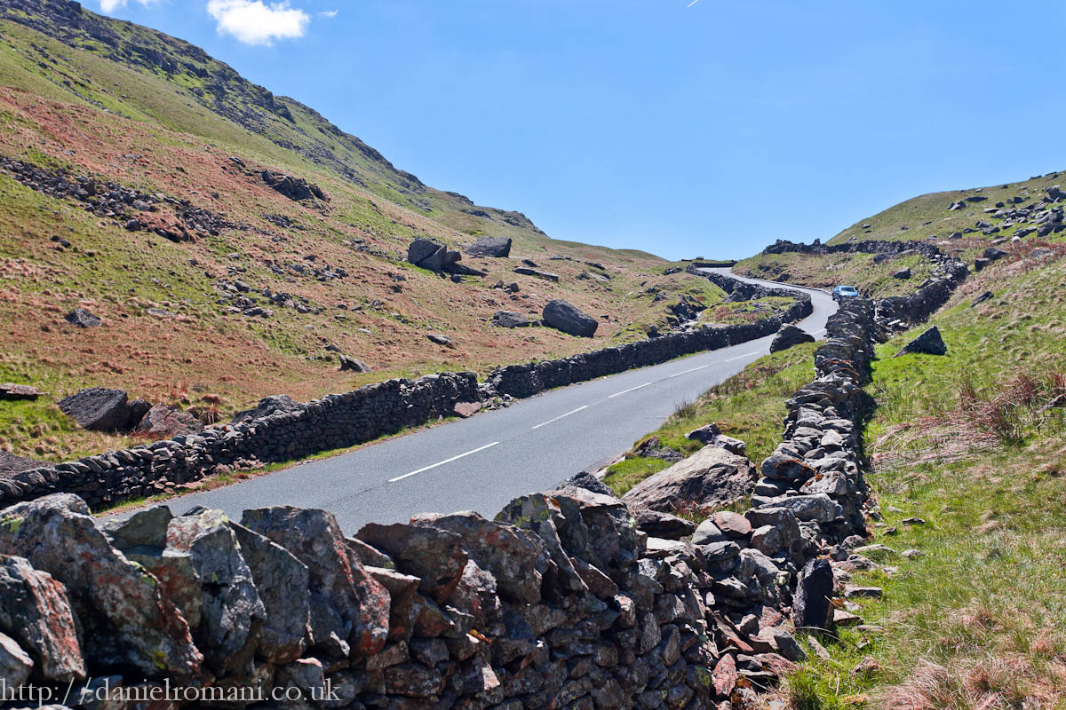 Looking South on Kirktone Pass, Lake District. Well worth the detour.