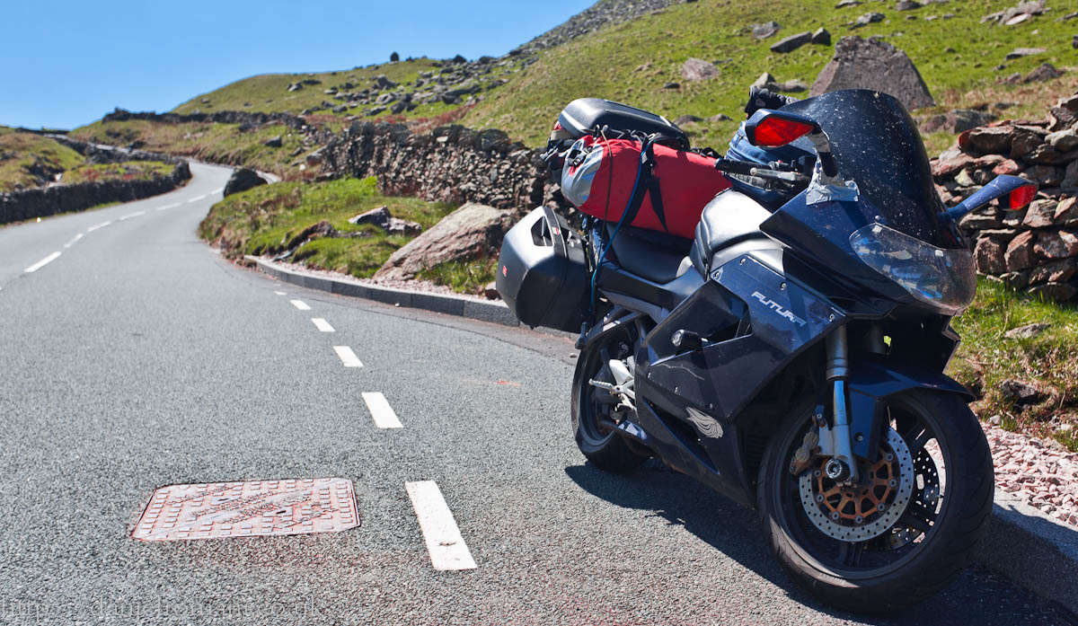 The Ape takes a break at Kirkstone Pass